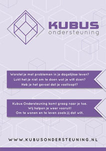 Voorpagina folder - Kubus ondersteuning